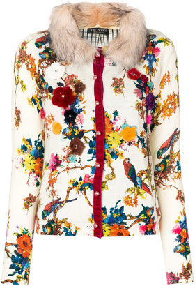 Twin-Set floral embellished cardigan $307.92 thestylecure.com