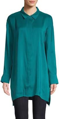 Eileen Fisher Classic Collar Long Shirt