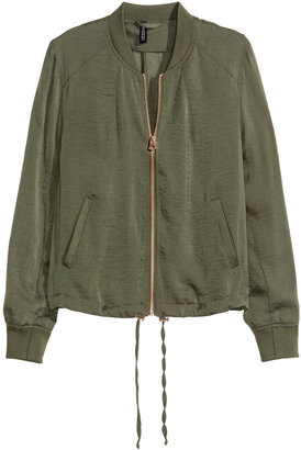 H&M - Bomber Jacket - Khaki green - Ladies