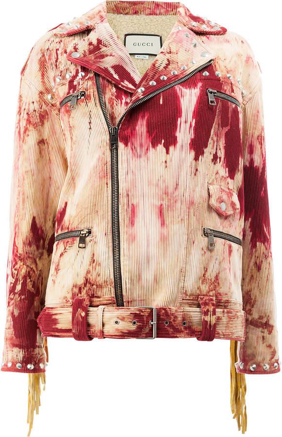 Gucci tie dye corduroy jacket