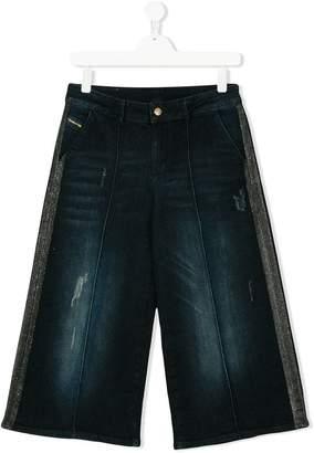 Diesel wide-leg glitter trim jeans