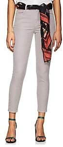 J Brand Women's Alana Corduroy High-Rise Crop Jeans - Gray