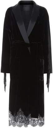 Alexander Wang Leather Fringed Kimono