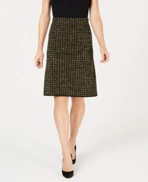 Kasper Metallic Pencil Skirt