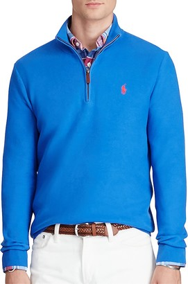 Polo Ralph Lauren Pima Cotton Half-Zip Sweater $98.50 thestylecure.com