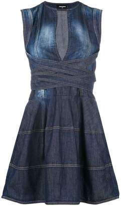 DSQUARED2 denim flared dress