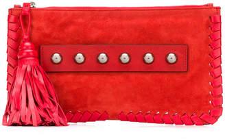 RED Valentino woven hem clutch bag