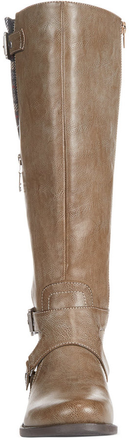 G by GUESS Women's Hertle Tall Shaft Wide Calf Riding Boots 5
