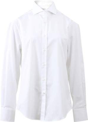Brunello Cucinelli Slim Spread Collar Blouse