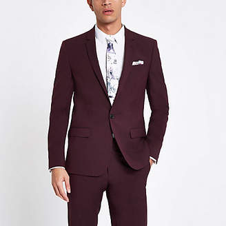 River Island Purple stretch skinny fit suit jacket