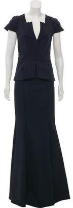 Zac Posen Short Sleeve Gown w/ Tags