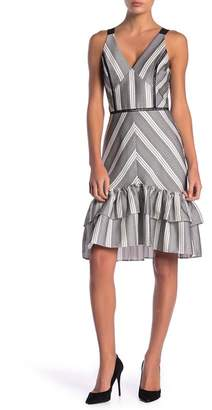 Adelyn Rae Lucille Chevron Stripe Dress