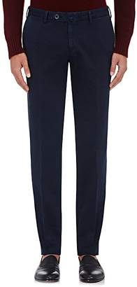 Isaia Men's Cotton Twill Trousers - Navy