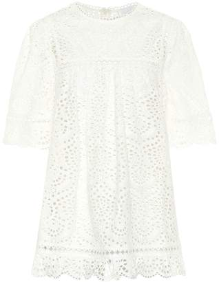 Zimmermann Bayou embroidered cotton top