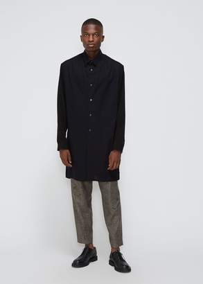 Yohji Yamamoto Side Button Combo Fabric Shirt