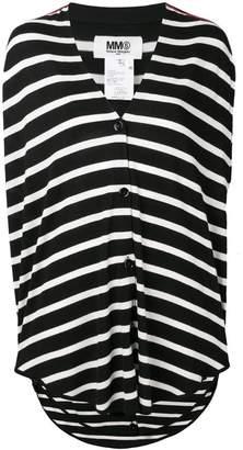 MM6 MAISON MARGIELA stripe buttoned top