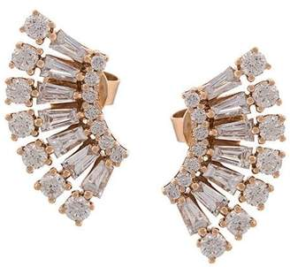 Anita Ko 18kt rose gold Floating Ava diamond earrings