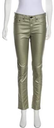 Rag & Bone Mid-Rise Metallic Jeans
