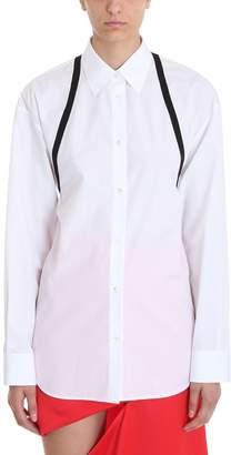 Maison Margiela Strap Detail White Cotton Shirt