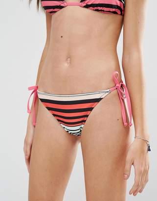 Noisy May Tan Lines Stripe Bikini Bottom