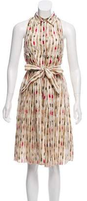 Malo Printed Sleeveless Dress