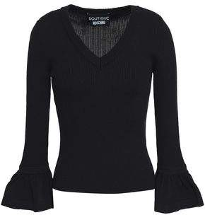 Moschino Ribbed-Knit Wool Top