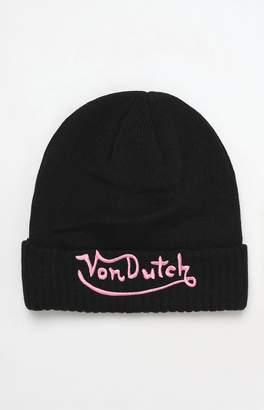 Von Dutch 22 Embroidered Logo Beanie