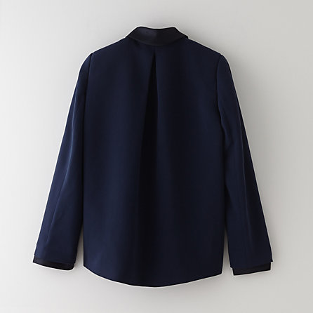 Band Of Outsiders pleat back blazer w/ satin collar