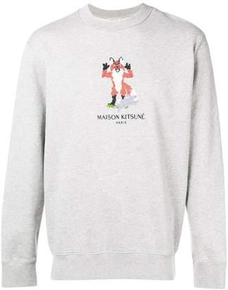MAISON KITSUNÉ pixel fox sweatshirt