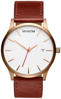 MVMT Classic Series - 45 mmRose Gold Natural Tan
