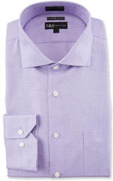 Men's Classic Fit Non-Iron Textured Solid Dress Shirt with Pocket
