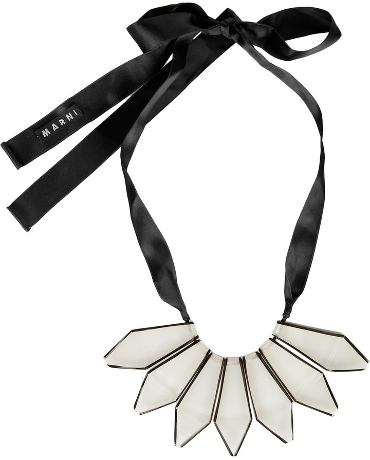 Marni Horn-trimmed resin necklace