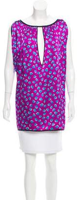 Marc Jacobs Printed Cap Sleeve Tunic