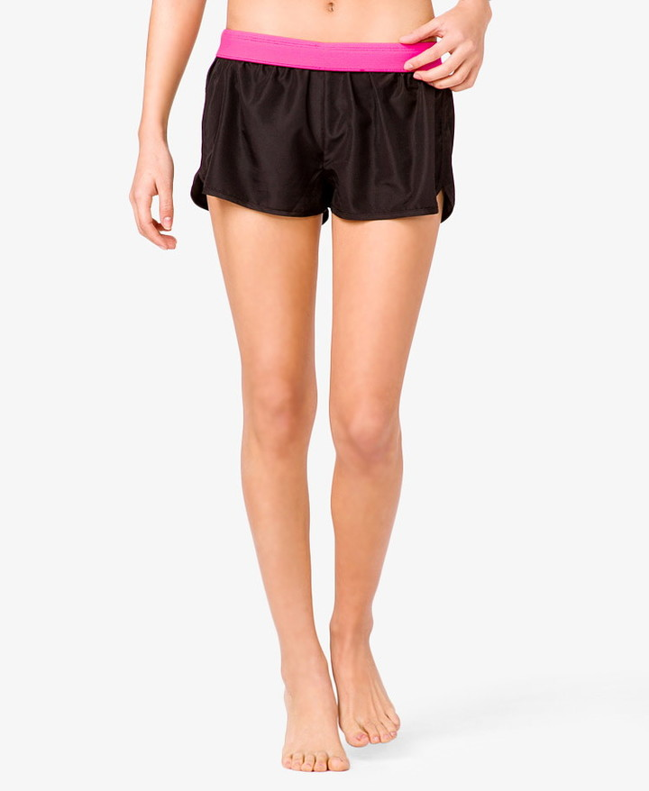 Forever 21 Active Colorblocked Woven Run Shorts