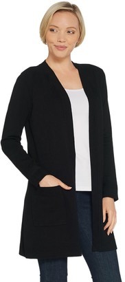 Belle By Kim Gravel Belle by Kim Gravel Feather Knit Open Front Long Cardigan