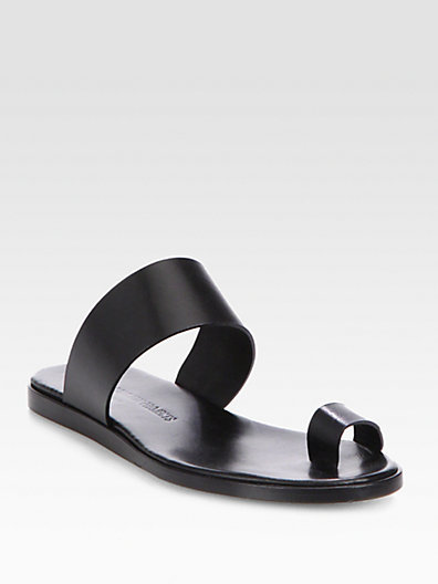WOMAN BY COMMON PROJECTS Minimalist Leather Banded Sandals