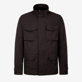 Bally Cotton Canvas Field Jacket Black, Men's cotton canvas field jacket in black