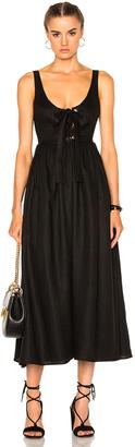 Mara Hoffman Lace Up Midi Dress $350 thestylecure.com
