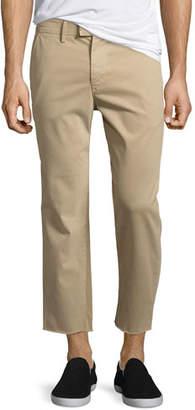 Joe's Jeans Soder Slim Stretch Chino Pants with Cut Hem, Beige
