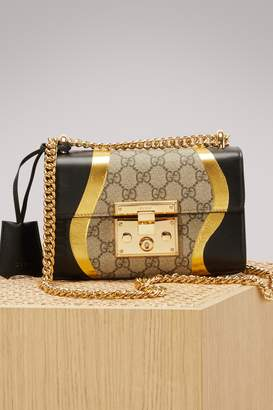 c38f0980 Gucci Padlock GG Supreme Canvas and Leather Shoulder Bag