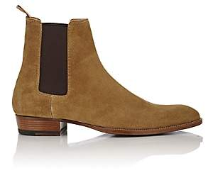 Saint Laurent Men's Suede Hedi Chelsea Boots - Beige, Tan