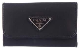 Prada Leather-Trimmed Key Holder