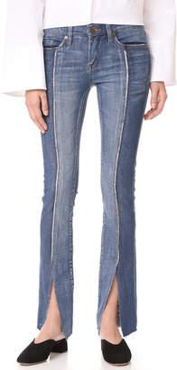 Blank Denim Slit Front Skinny Jeans $98 thestylecure.com