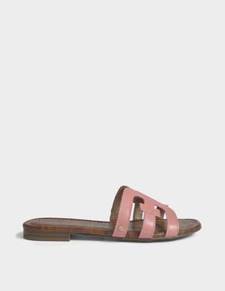 Sam Edelman Bay Slide Shoes in Sugar Pink Leather
