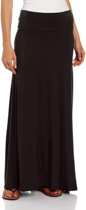 Amy Byer Women's Timeless Fashion Long Soft Knit Skirt with Waist Detail