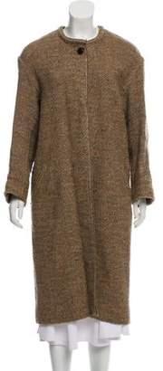 Isabel Marant Long Tweed Coat