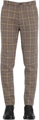 Kenzo 18cm Wool Houndstooth Check Pants