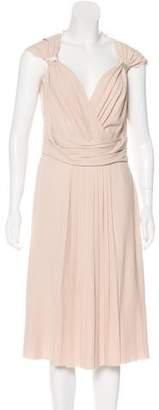 Prada Silk Sleeveless Midi Dress