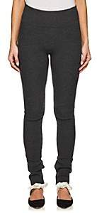 The Row Women's Ablene Rib-Knit Wool-Blend Leggings - Charcoal Grey Mel