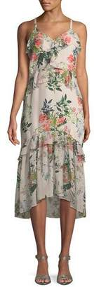 Parker Josie Floral-Print Silk Midi Dress